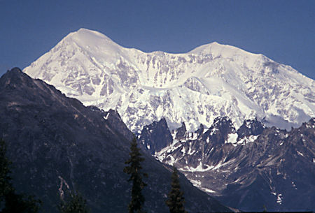 Denali 12,310', 41.7 miles, from Mile 135 viewpoint on Parks Highway