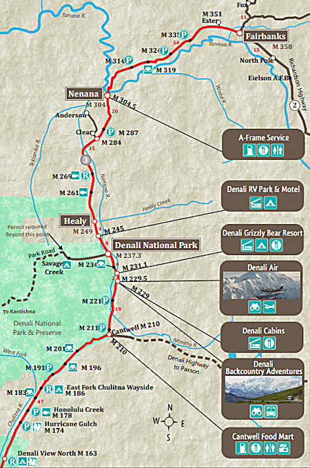 Parks Highway map north
