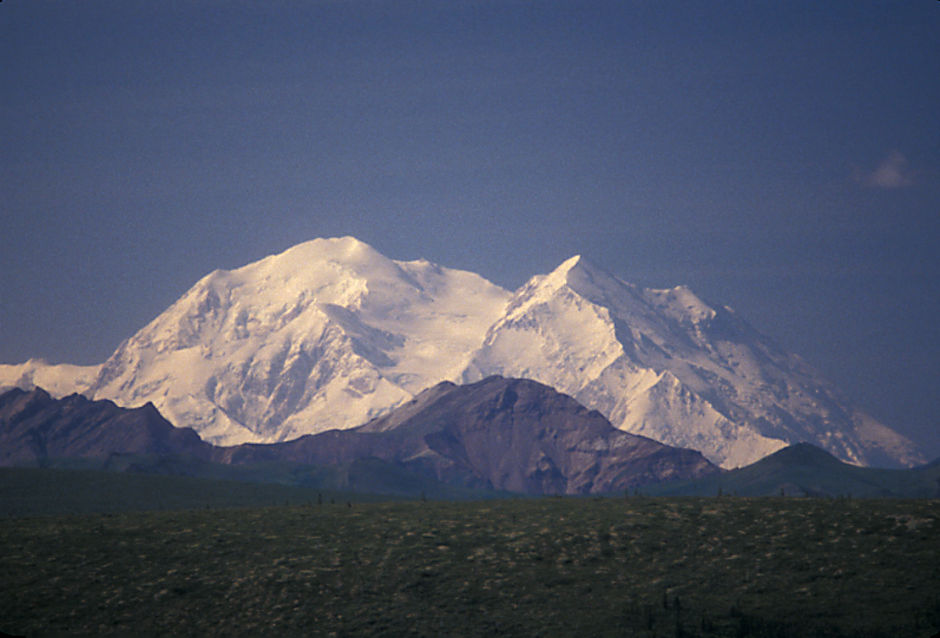 Denali (Mt. McKinley) 20,306' from viewpoint on Denali Park road