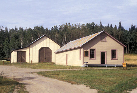 Water Wagon Shed (left), Quartermaster Building (right), Fort Egbert, Eagle, Alaska