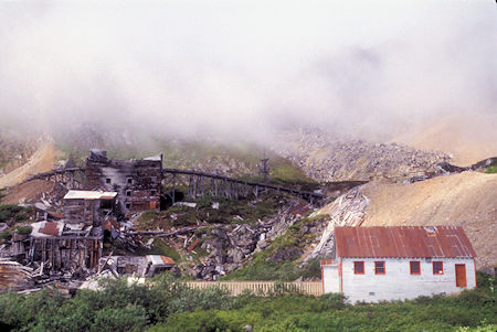 Assay Office on right, Independence Mine Historical Park, Alaska