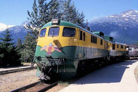 Passenger Train, White Pass and Yukon Railway, Skagway, Alaska