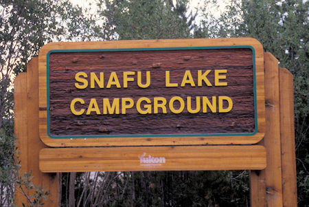 Interesting 'SNAFU' name, near Jake's Corner, Yukon Territory