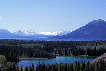 South Lake (foreground), Birch Mtn (right) and Atlin Lake, British Columbia