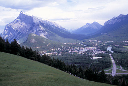 Mount Rundle and Banff from Mount Norquay Ski Area road, Banff National Park, Alberta