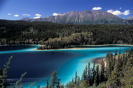 Summit Lake, mixing of glacial and non-glacial waters, British Columbia