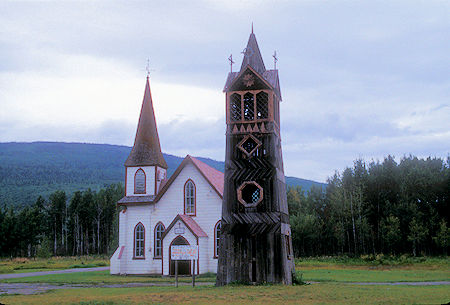 St.  Paul's Anglican Church and 'old bell tower 1893' in Gitwangak, British Columbia