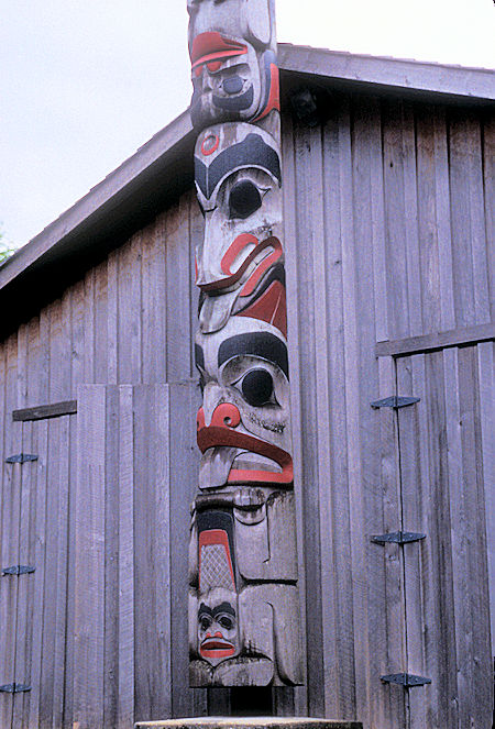 Totem Pole at carving shed in Prince Rupert, British Columbia