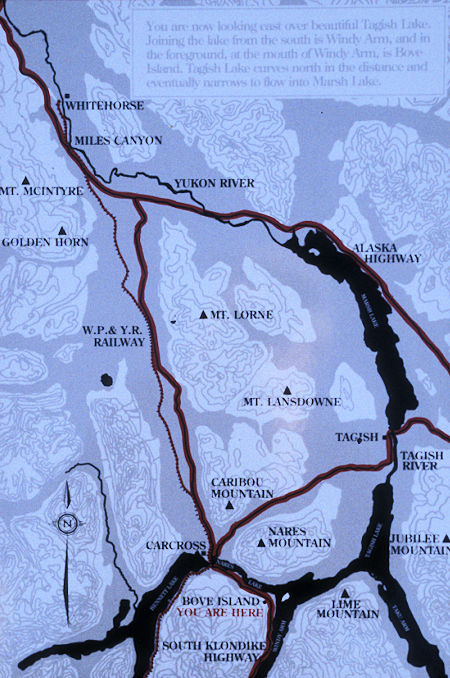 Tagish Lake area map, Yukon Territory