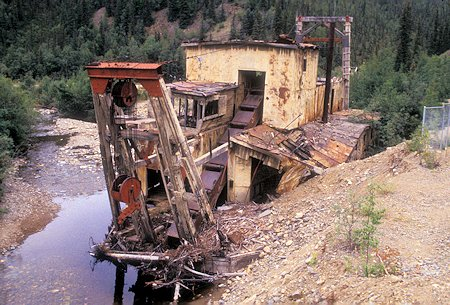 Jack Wade Dredge #1 on Taylor Highway, Alaska - August 1998