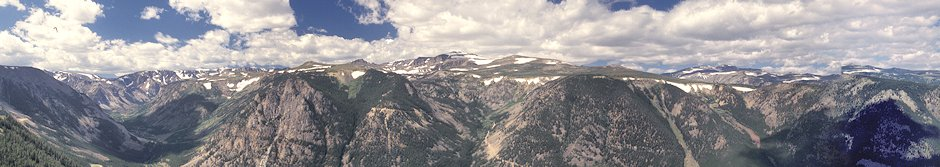 View from 9091' Beartooth Highway Viewpoint, Montana (stitched)