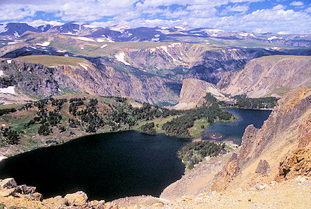 Twin Lakes from Beartooth Highway, Wyoming