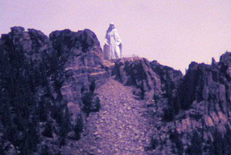 Our Lady of the Rockies, a 90-foot statue of the Virgin Mary that looks down on Butte from the Continental Divide.