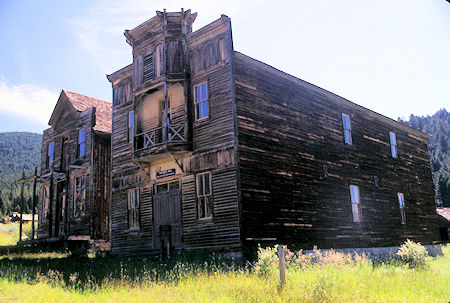 Fraternity Hall on right, Gilliam Hall on left, Elkhorn, Montana Ghost Town