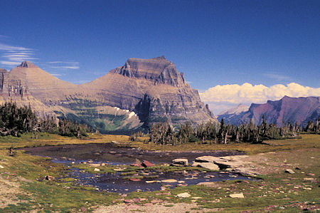 View east from Hidden Lake Trail, Logan Pass area, Glacier National Park