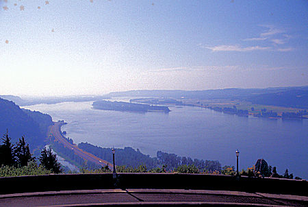 Columbia River from Vista House Museum and viewpoint, Columbia River, Oregon