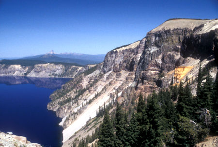 Pumice Castle (right), Crater Lake, Crater Lake National Park, Oregon 1998