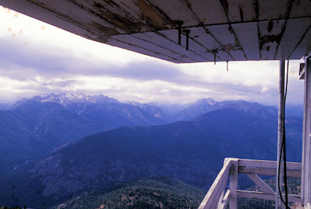 View toward North Cascades National Park from Goat Peak Lookout near Winthrop, Washington