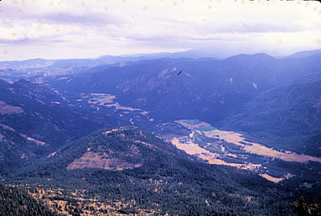 Toward southeast Methow Valley from Goat Peak Lookout near Winthrop, Washington
