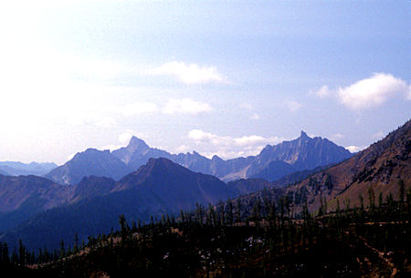 Tower Mountain and Golden Horn Mountain from Grasshopper Pass