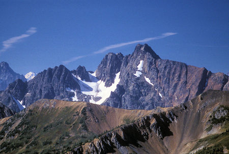 Azurite Peak from 7,440' Slate Peak near Harts Pass, Washington