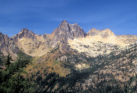 Cutthroat Peak on the northwestern side of North Cascades Highway from Blue Lake trail